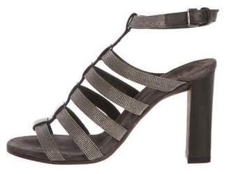 Brunello Cucinelli Monili Caged Sandals