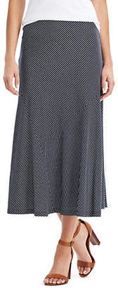 Chaps Petite Striped Jersey Maxi Skirt