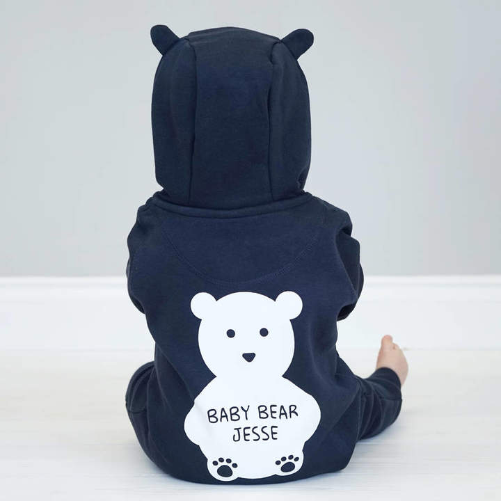 Sparks And Daughters Personalised Baby Bear Onesie