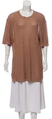 Lanvin Open-Knit Short Sleeve Top