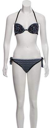 Fendi Printed Two-Piece Swimsuit w/ Tags