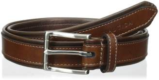 Nautica Boys' 25mm Tubular Belt with Leather Overlay