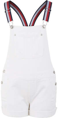 Tommy Hilfiger Toddler Girls Cotton Striped-Strap Denim Shortalls