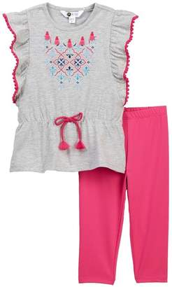 Petit Lem Tunic & Legging Set (Toddler & Little Girls)