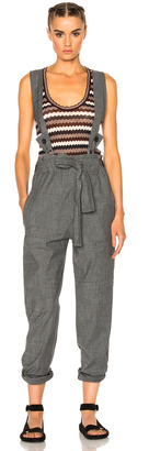 Isabel Marant Etoile Adrien Chambray Overalls $355 thestylecure.com