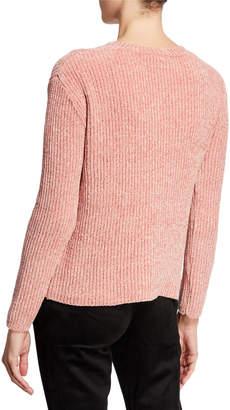 Joan Vass Novelty Stitched Chenille Sweater