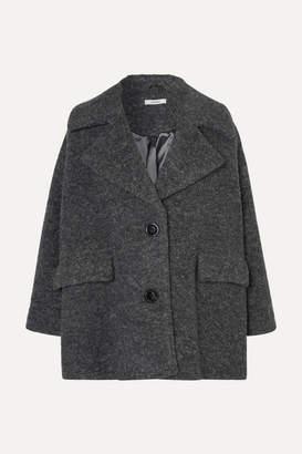 Ganni Fenn Wool-blend Bouclé Jacket - Gray