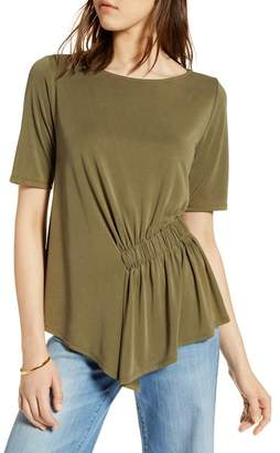 Halogen Ruched Waist Tee (Regular & Petite)