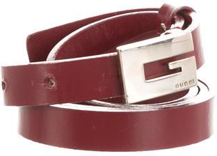 GucciGucci Skinny Leather Waist Belt