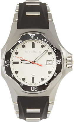 Givenchy SIlver & Black Five Shark Watch $1,050 thestylecure.com