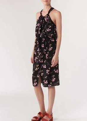 Vanessa Bruno Itak Sleeveless Dress In Floral Print