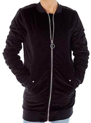 Volcom Junior's Womens' Shir Thing Long Bomber Jacket