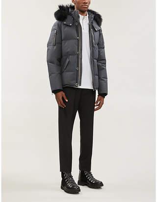 Moose Knuckles 3Q faux-fur-trim hooded twill-down jacket