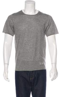 Lucien Pellat-Finet Skull & Leaf Cashmere T-Shirt w/ Tags