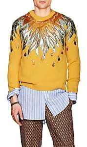 Gucci Men's Embellished Wool Sweater - Yellow