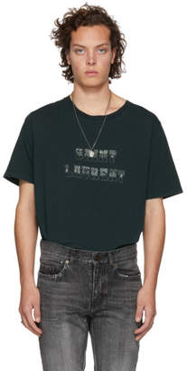 Saint Laurent Green Western Logo T-Shirt