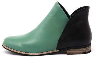 Django & Juliette New Aframe Emerald Black Womens Shoes Casual Boots Ankle