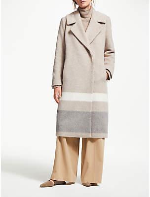 Modern Rarity Stripe Wool Coat, Natural