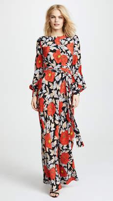 Diane von Furstenberg Waist Tie Maxi Dress