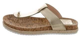 Tory Burch Leather Espadrille Thong Sandals
