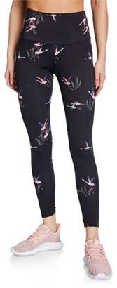 Onzie High-Rise Flamingo-Print Leggings