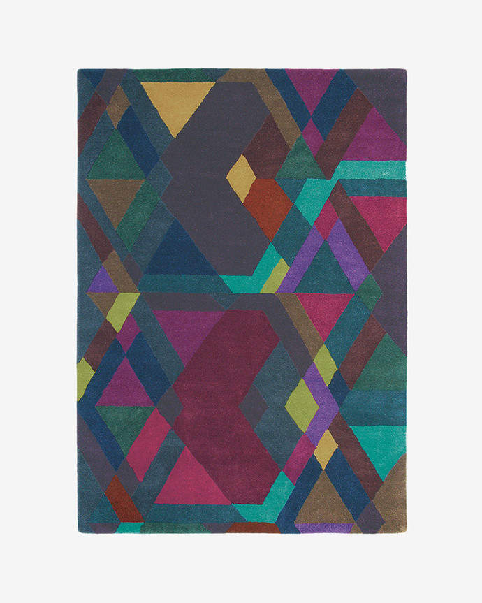 57607 Handtuftd Mosaic Sml Rug