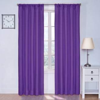 Eclipse Curtains Eclipse 10707042X084PUR Kendall 42-Inch by 84-Inch Thermaback Blackout Single Panel