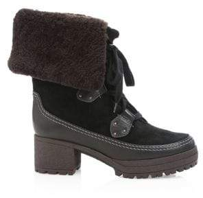 See by Chloe Verena Shearling-Lined Suede Mid-Calf Boots