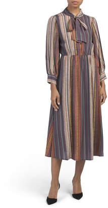 Made In Italy Tribal Print Midi Dress