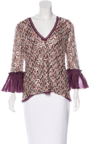 Missoni Embellished Bell Sleeve Blouse w/ Tags