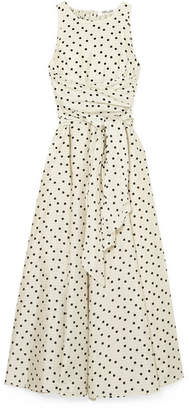 Diane von Furstenberg Polka-dot Silk Maxi Dress - Cream