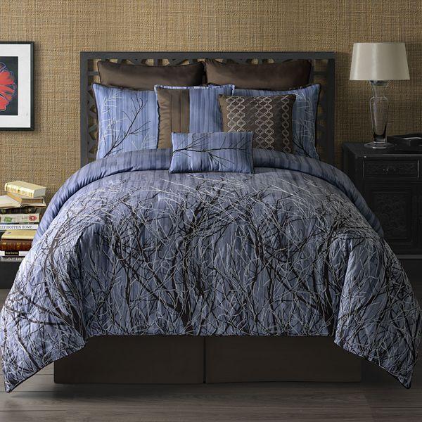 Metropolis muirwoods 9-pc. reversible comforter set