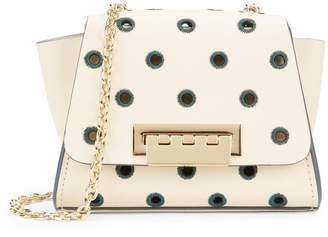 Zac Posen Eartha Embroidered Polka Dot Mini Chain Crossbody Bag