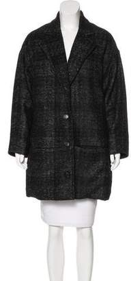 Billy Reid Wool-Blend Plaid Coat