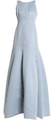Halston Fluted Duchesse-Satin Gown
