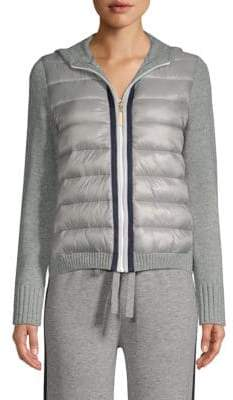 Escada Sport Silvala Hooded Knitted Puffer Jacket