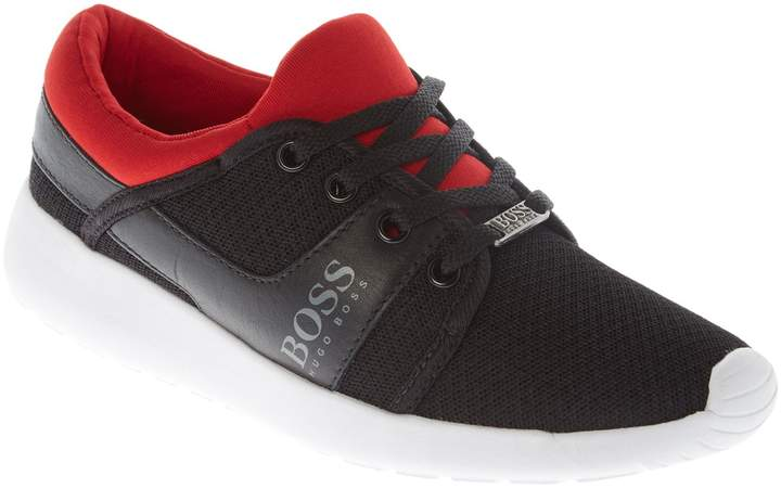 Boys Leather & Mesh Trainers