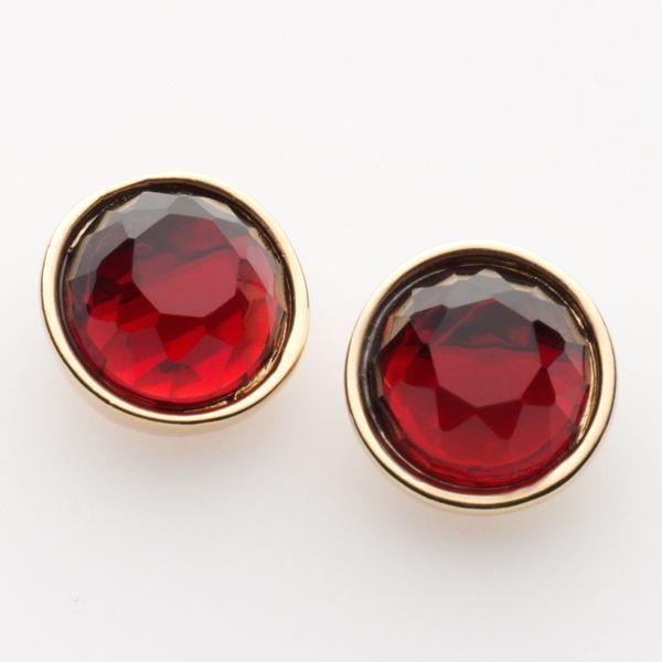 Trifari® gold-tone crystal stud earrings
