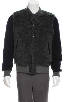 Sacai Textured Fleece Bomber Jacket