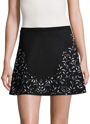Roberto Cavalli Scroll Print Mini Skirt
