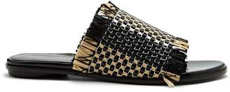 Proenza Schouler Woven-raffia and leather slides