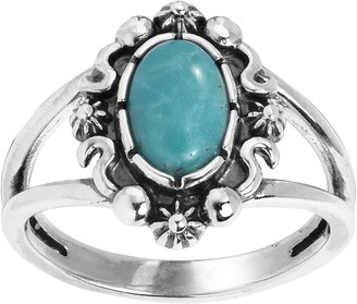American West Sterling Oval Split-Band Ring