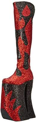 Pleaser USA SPLASHY 3020 Zipper Boots RED 10 M