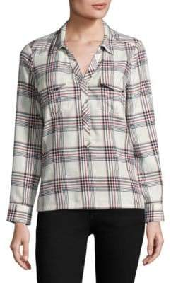Joie Antolina Plaid Cotton Collared Shirt