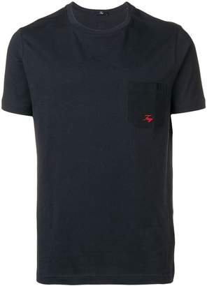 Fay logo embroidered T-shirt