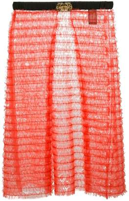 Tu Es Mon Trésor sheer layered apron skirt