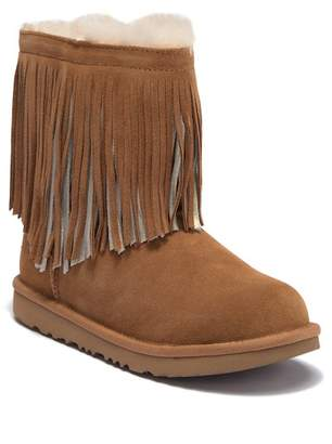 UGG Classic II Fringe UGGpureTM Lined Boot (Little Kid & Big Kid)