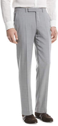 Ermenegildo Zegna High Performance Wool Flannel Flat-Front Trousers
