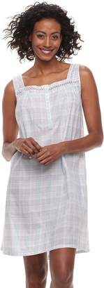 Croft & Barrow Women's Printed Pointelle Nightgown