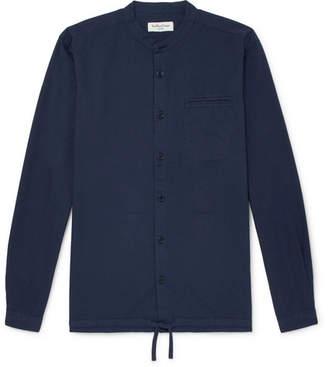 YMC Beach Grandad-Collar Cotton-Ripstop Shirt - Men - Navy